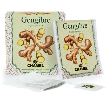 Chá de Gengibre com 10 Sachês - Chamel