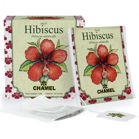 Chá de Hibiscus com 10 Sachês - Chamel