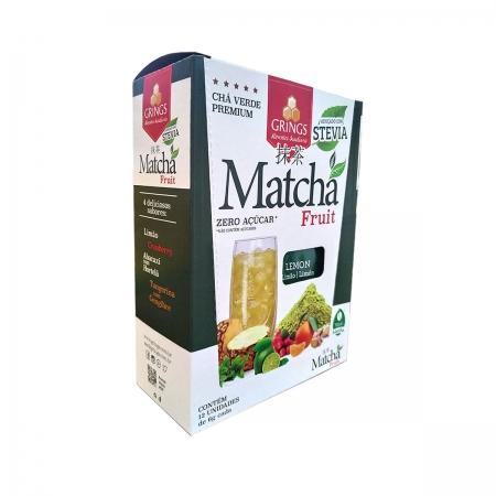 Chá Matchá sabor Limão Display 12un de 6g - Grings
