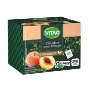 Chá Mate com Pêssego Orgânico 20 sachês - Vitao