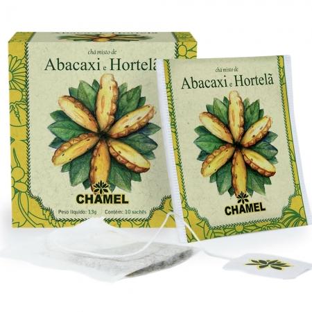 Chá Misto de Abacaxi e Hortelã com 10 Sachês - Chamel