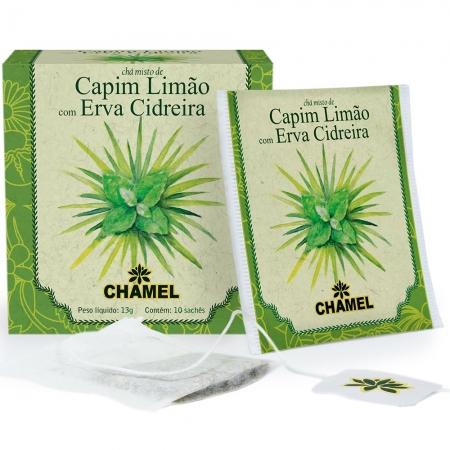 Chá Misto de Capim Limão e Erva Cidreira com 10 Sachês - Chamel