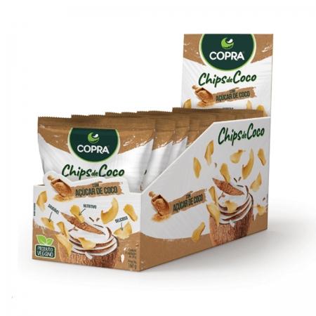 Chips de Coco sabor Açúcar de Coco 8un de 20g - Copra