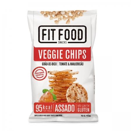 Chips Veggie Grão de Bico Sabor Tomate e Manjericão 40g - Fit Food