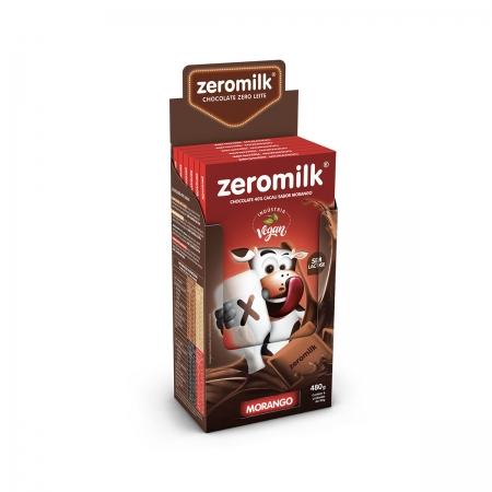 Chocolate 40% Cacau Sabor Morango Zero Lactose Display com 6 un. de 80g - ZeroMilk