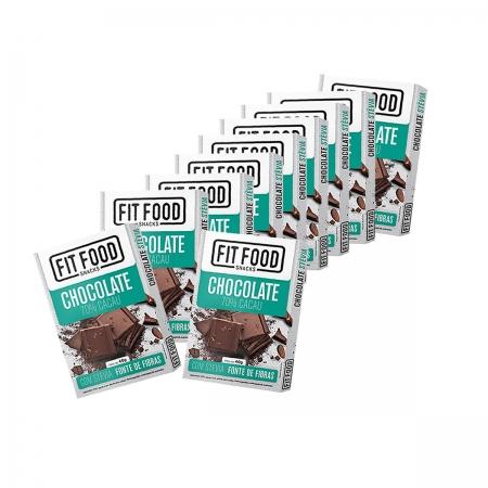 Chocolate Stevia 70% Cacau Display com 10 un de 40g - Fit Food