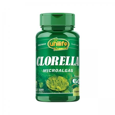 Clorella 500mg 60 Cápsulas - Unilife