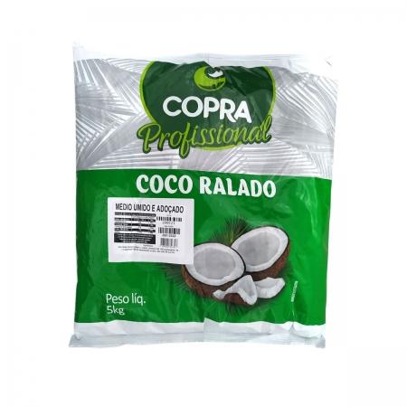 Coco Ralado Médio Úmido e Adoçado 5kg - Copra