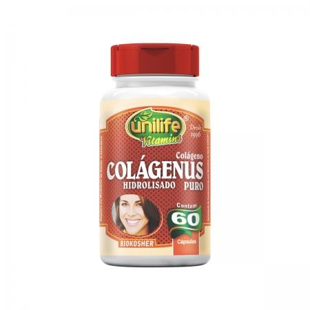 Colágeno Hidrolisado Puro 450mg 60 Cápsulas - Unilife