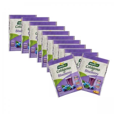 Colágeno Solúvel Sabor Blueberry Display com 12 Saches de 6g - NaturalLife