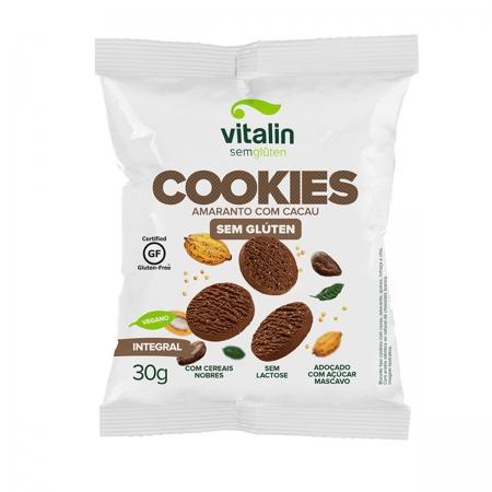 Cookie Sabor Amaranto com Cacau 30g - Vitalin