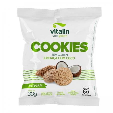 Cookie Sabor Linhaça com Coco  30g - Vitalin