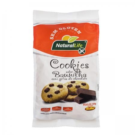 Cookies Sabor Baunilha com Gotas Chocolate Sem Glúten 180g - NaturalLife