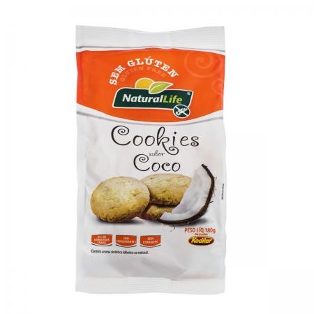 Cookies Sabor Coco Sem Glúten 180g - NaturalLife
