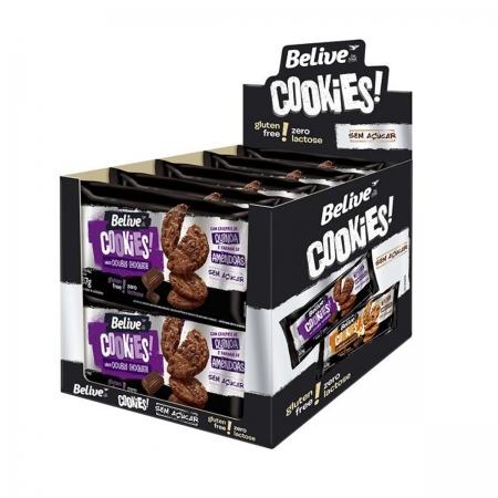 Cookies Zero Açúcar sabor Double Chocolate Display 10 un de 67g - Belive