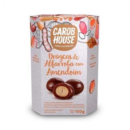 Drágeas de Alfarroba com amendoim 100g - Carob House