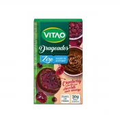 Drágeas De Cranberry com Chocolate Meio Amargo 30g - Vitao