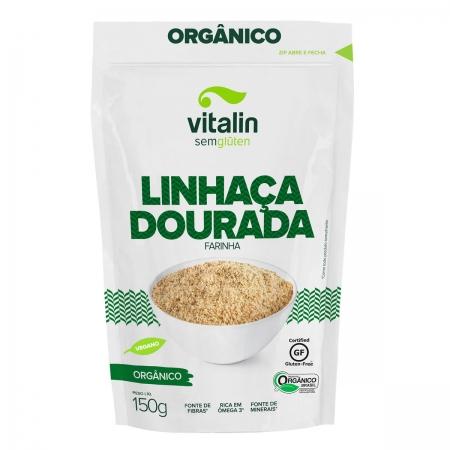 Farinha de Linhaça Dourada Orgânica 150g - Vitalin