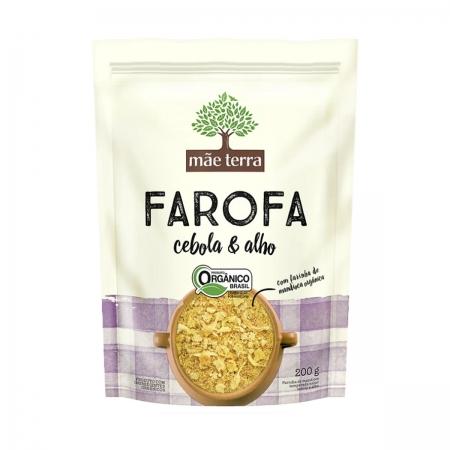 Farofa com Cebola e Alho Orgânico 200g  - Mãe Terra