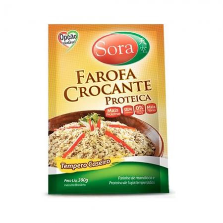 Farofa Crocante Proteica Tempero Caseiro 300g - Sora