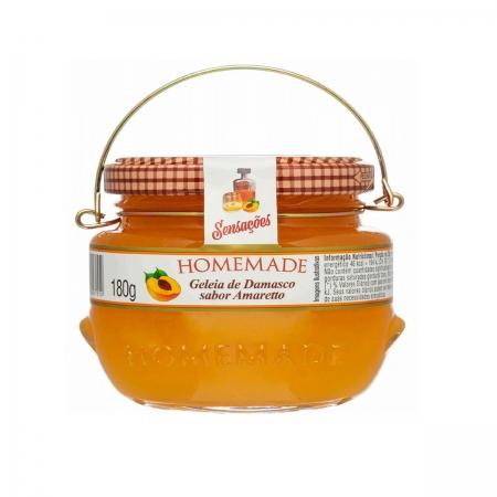 Geleia de Damasco Sabor Amaretto 180g - Homemade