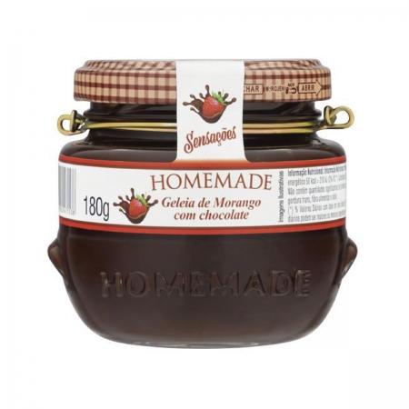 Geleia de Morango com Chocolate 180g - Homemade
