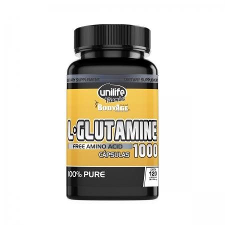 Glutamina 1000mg 120 Cápsulas - Unilife