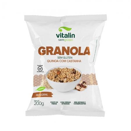 Granola Sem Glúten Quinoa com Castanha 200g - Vitalin