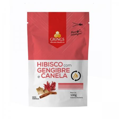 Hibisco com Gengibre e Canela 100g - Grings