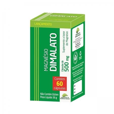 Magnésio Dimalato com 60 cápsulas - Medinal