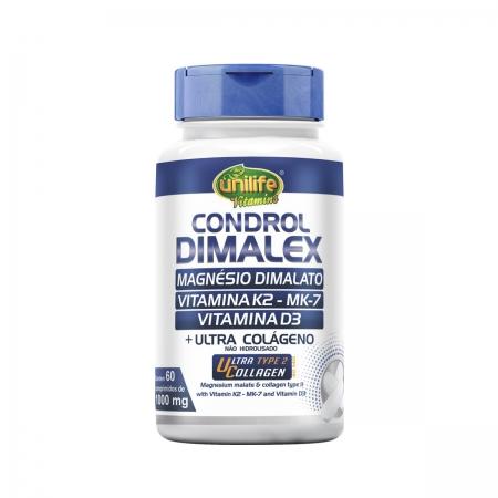 Magnésio Dimalato Dimalex 1000mg 60 Comprimidos - Unilife