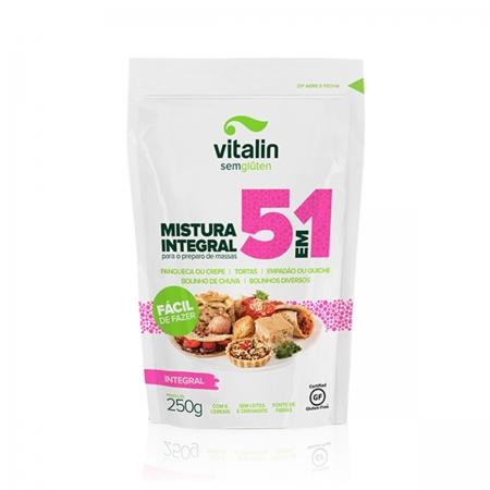 Mistura Integral para Preparo de Massas 5 em 1 glúten 250g - Vitalin