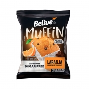 Muffin Sem Glúten Zero Laranja Com Gotas de Chocolate 40g - Belive