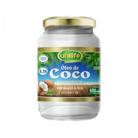 Óleo de Coco Extra Virgem 500ml - Unilife