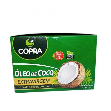 Óleo de Coco Extra Virgem Display com 40 sachês de 15ml - Copra