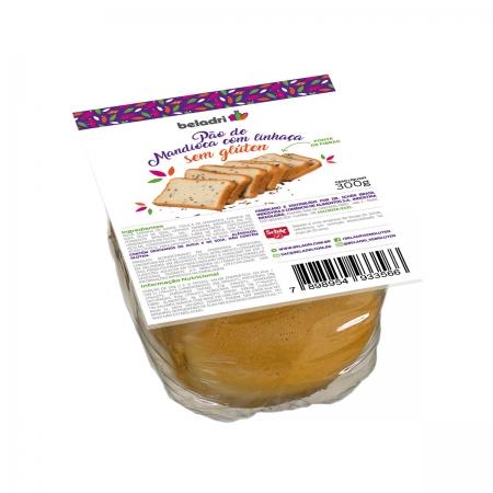 Pão de Mandioca com Linhaça Sem Glúten 300g - Beladri