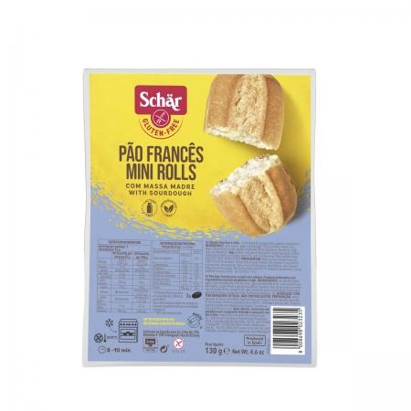 Pão Francês Mini Rolls 130g - Schar