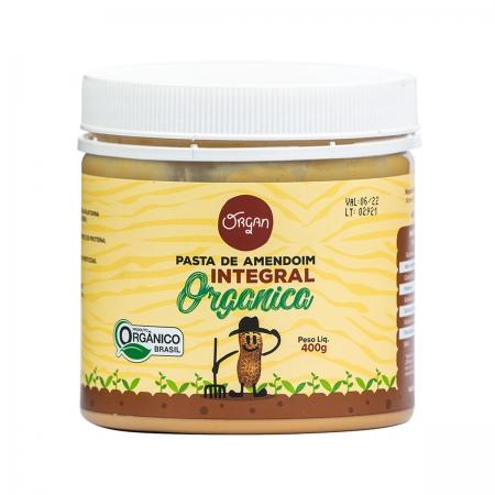 Pasta de Amendoim Integral Orgânica 400g - Organ