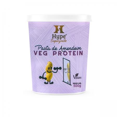 Pasta de Amendoim Proteica Vegana 500g - Hype