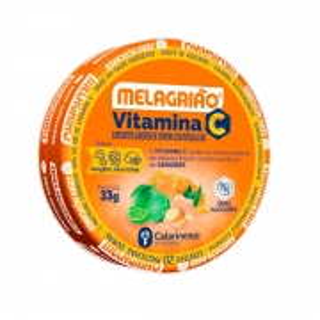 Pastilhas Melagrião Vitamina C Sabor Gengibre, Mel e Limão Lata  33g - Catarinense