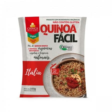 Quinoa Fácil sabor Itália Orgânica 100g - Grings