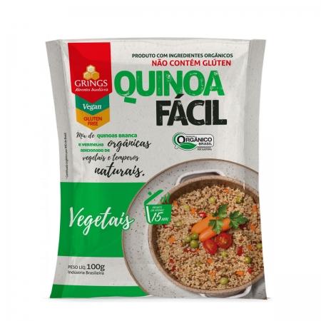 Quinoa Fácil sabor Vegetais Orgânica 100g- Grings