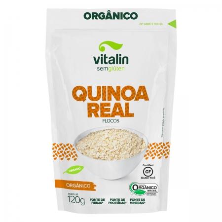 Quinoa Real em Flocos Orgânico 120g - Vitalin