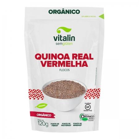 Quinoa Real Vermelha em Flocos Orgânico 120g - Vitalin