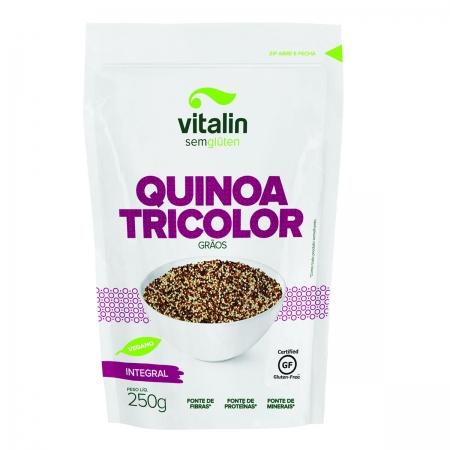 Quinoa Tricolor em Grãos Integral 250g - Vitalin