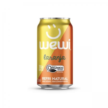 Refrigerante Natural Sabor Laranja Orgânico Lata 350ml - Wewi