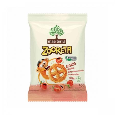 Salgadinho Orgânico Zooreta Pizza 45g - Mãe Terra
