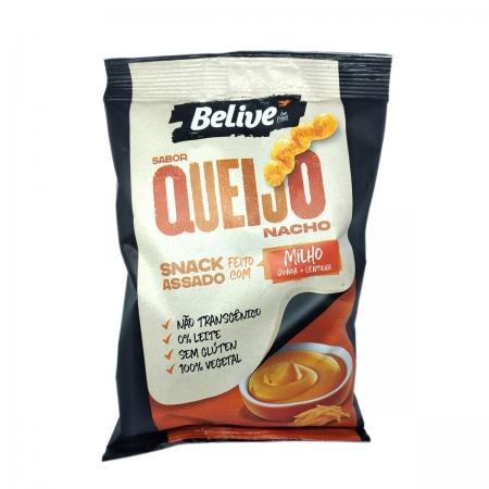 Snacks de Milho Sabor Queijo Nacho 35g - Belive