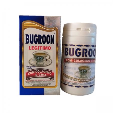 Suplemento com Colágeno e Chia 500mg 60 cápsulas - Bugroon