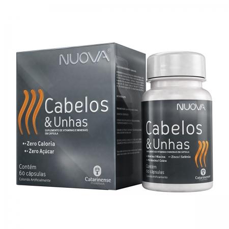 Suplemento Nuova Cabelos e Unhas 60 cápsulas - Catarinense